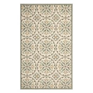 Four Seasons Green and Brown Area Rug