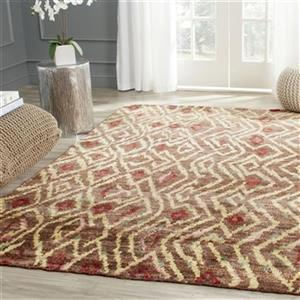 Bohemian Brown and Gold Area Rug