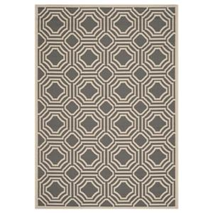 Courtyard Anthracite and Beige Area Rug
