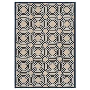 Safavieh Courtyard 11-ft X 8-ft Blue Cream Area Rug
