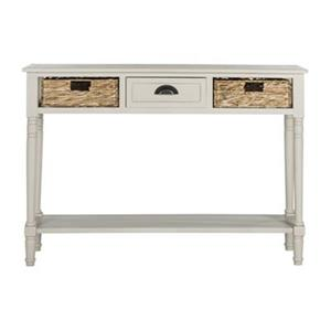 Safavieh American Home Christa 3-Drawer Winter Melody Vintage Grey Console Table