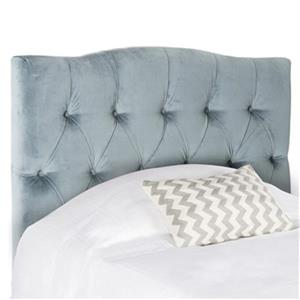 Safavieh Axel 53.90-in x  42.10-in Wedgewood Blue Tufted Headboard