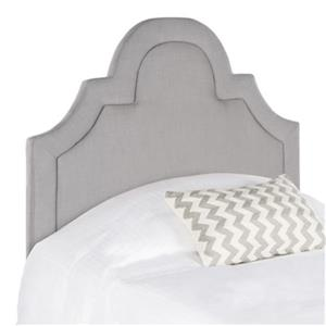 Safavieh Kerstin 53.10-in x 41.70-in Arctic Grey Arched Headboard