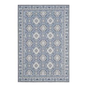 Artisan Silver and Blue Area Rug