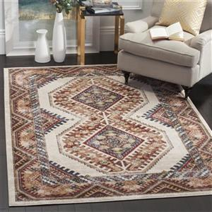 Bijar Ivory and Rust Area Rug