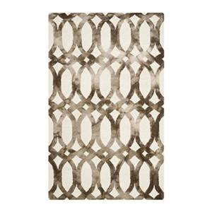Dip Dye Hand-Tufted Wool Ivory and Chocolate Area Rug