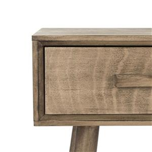Safavieh Albus 3 Drawer Black Pine Desert Brown Rectangular Console Table