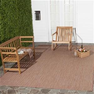 Safavieh Courtyard 11-ft X 8-ft Red Indoor Outdoor Rug