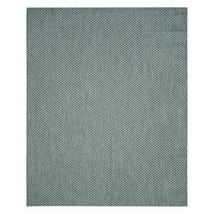 Safavieh Courtyard 11-ft X 8-ft Turquoise and Light Grey Indoor Outdoor Rug