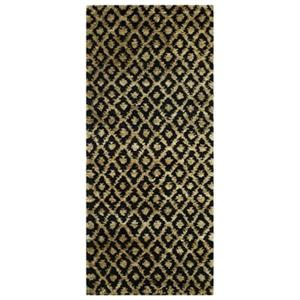Bohemian Black and Gold Area Rug