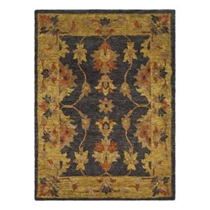 Bohemian Area Rug, Charcoal/Gold
