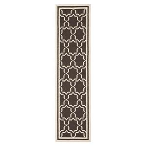 Dhurries Chocolate and Ivory Area Rug