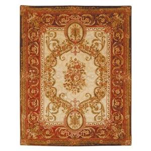 Empire Area Rug, Gold/Red