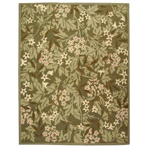 Chelsea Area Rug, Green/Ivory