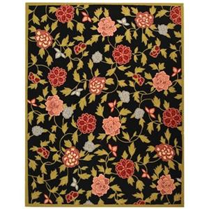 Chelsea Area Rug, Black/Green