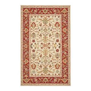 Chelsea Ivory and Red Area Rug