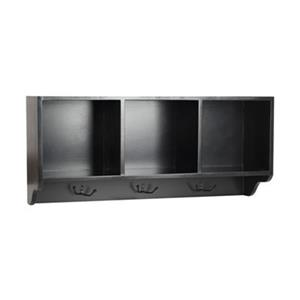 Safavieh American Home 15-in x 33.50-in Black Alice Wall Shelf