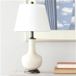 Safavieh 23.50 Cream Victor Table Lamp (Set of 2)