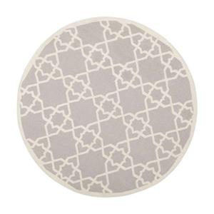 Dhurries Gray and Ivory Area Rug