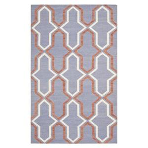Dhurries Purple and Multi-Colored Area Rug