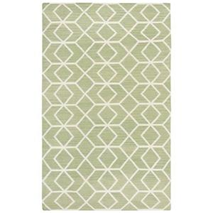 Dhurries Sage and Ivory Area Rug