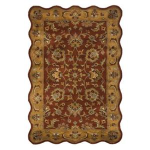 Heritage Area Rug, Red / Natural