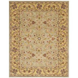 Heritage Area Rug, Green / Gold