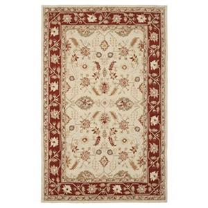Chelsea Ivory and Rust Area Rug