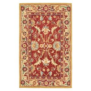 Chelsea Red and Ivory Area Rug