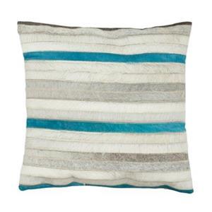 Safavieh Quinn Grey/Blue Striped Decorative Pillows (Set of 2)