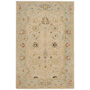 Anatolia Natural and Soft Turquoise Area Rug