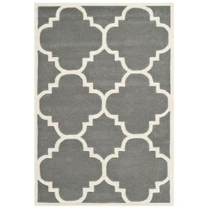 Chatham Dark Grey and Ivory Area Rug