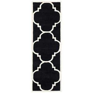 Chatham Area Rug, Black / Ivory