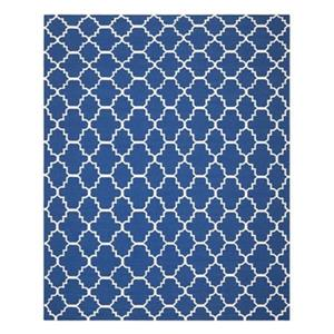 Dhurries Dark Blue Area Rug