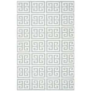Dhurries Blue and Ivory Area Rug