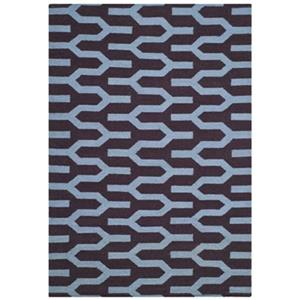 Dhurries Purple and Blue Area Rug