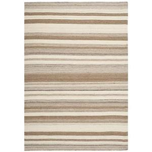 Dhurries Area Rug, Natural / Camel