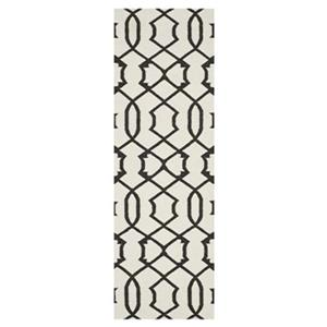 Dhurries Ivory and Charcoal Area Rug