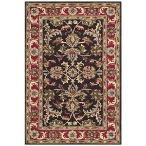 Heritage Chocolate and Red Area Rug