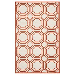 Amherst Ivory and Orange Area Rug
