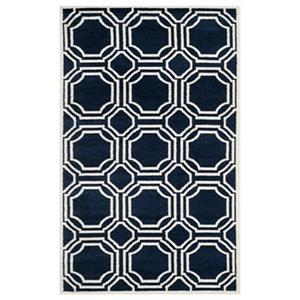 Safavieh Amherst Navy and Ivory Area Rug,AMT411P-5