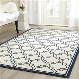 Safavieh Amherst Ivory and Navy Area Rug,AMT412M-5