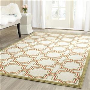 Safavieh Amherst 8-ft X 5-ft Ivory and Light Green Area Rug