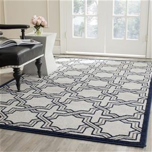 Safavieh Amherst 8-ft X 5-ft Ivory and Navy Area Rug