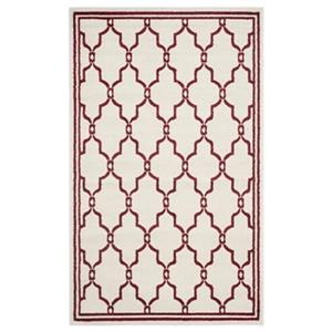 Amherst Ivory and Red Area Rug