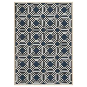 Courtyard Navy and Beige Area Rug