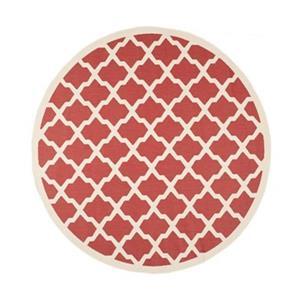 Safavieh Courtyard 7.833-ft Red and Bone Area Rug