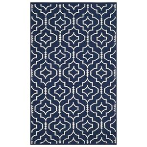 Dhurries Navy and Ivory Area Rug