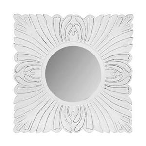 Safavieh 28-in x 28-in White Acanthus Mirror