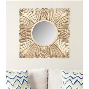 Safavieh 28-in x 28-in Gold Acanthus Mirror